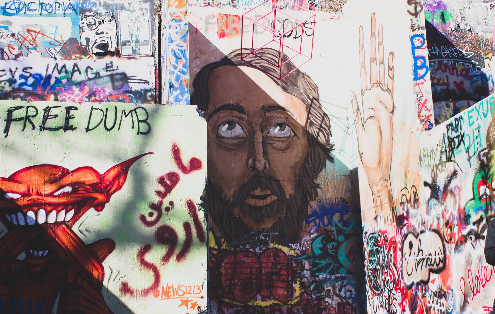 Austin, Texas, Graffiti Wall